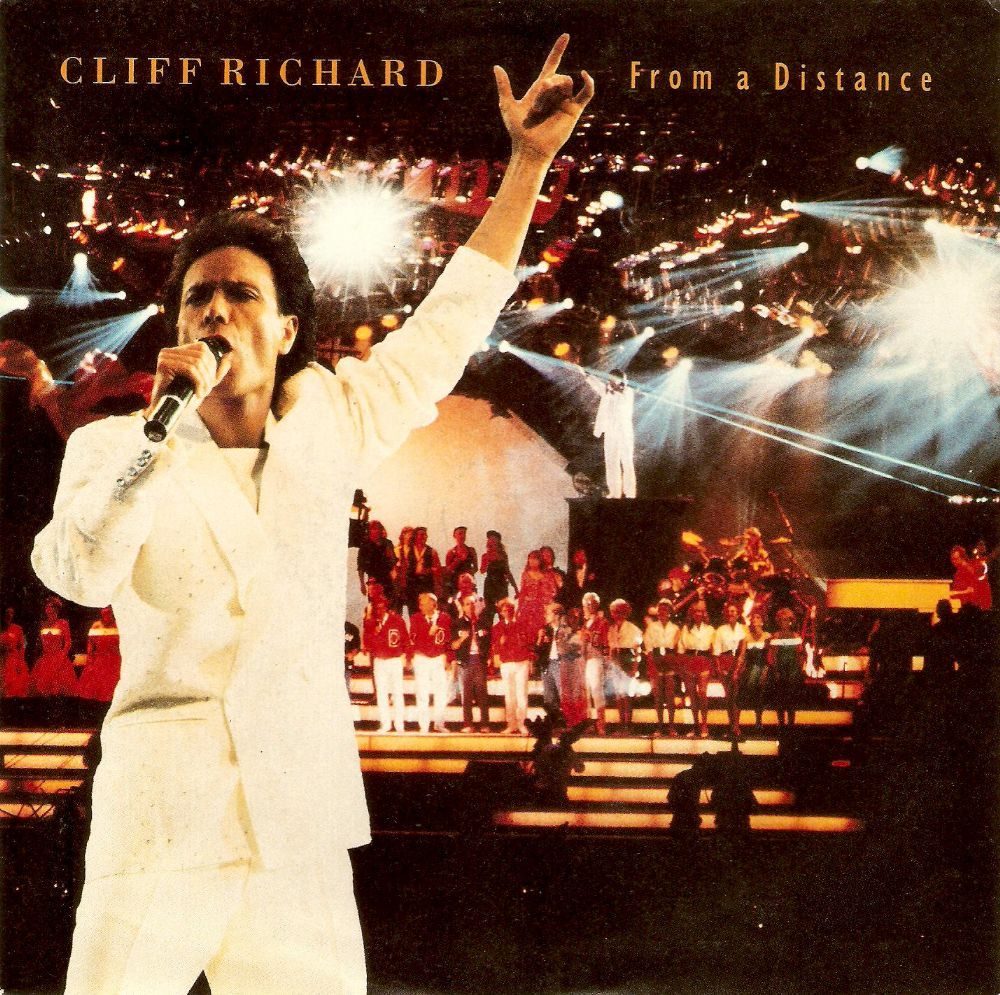 CLIFF RICHARD From A Distance Vinyl Record 7 Inch EMI 1990